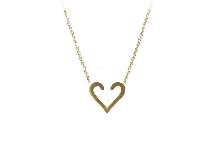 yellow gold heart pendant L'acccrohe-coeur d'amour