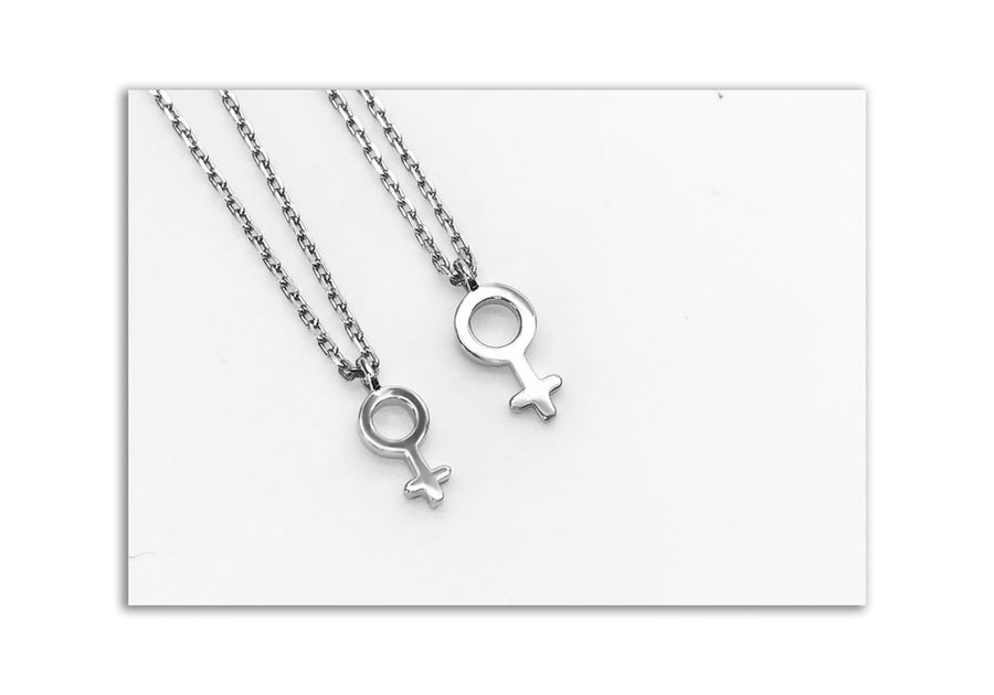 duo charms women with sterling silver chain