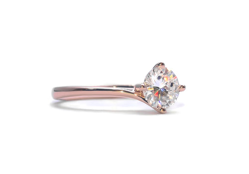 bague moissanite 50 points or rose enlace moi profill