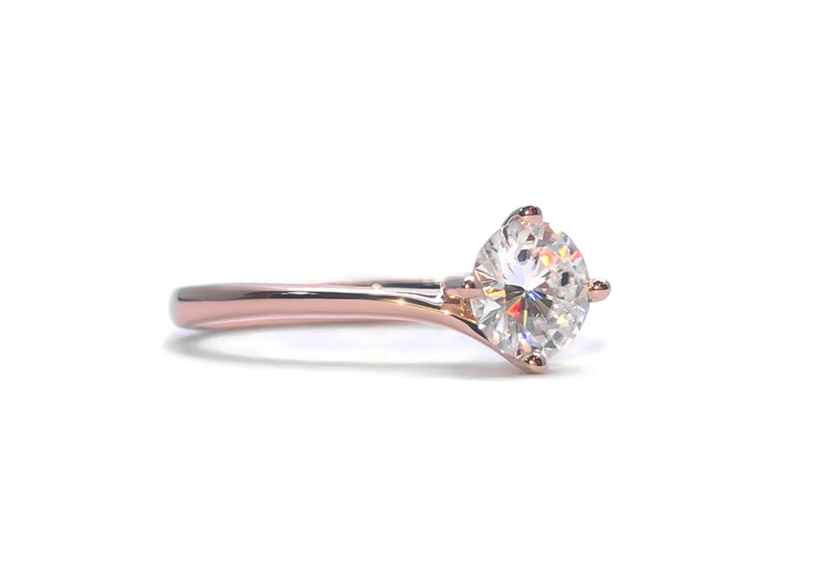 ring diamonds 50 points rose gold embrace me profile