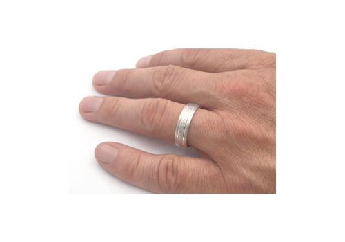 white gold ring comfort set it's all hand