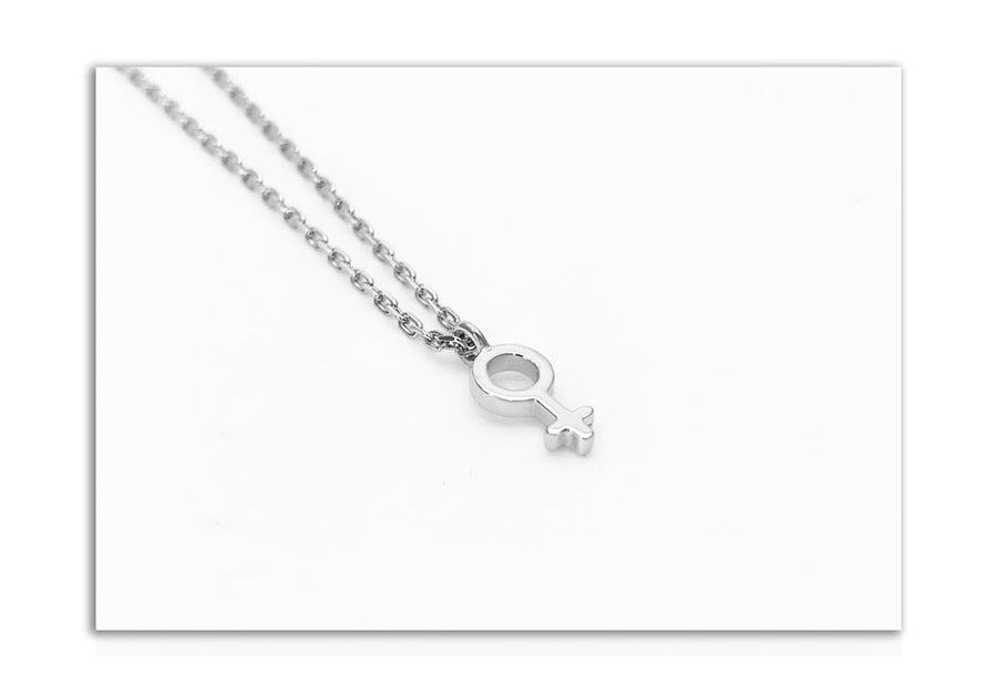 little girl charm with sterling silver chain