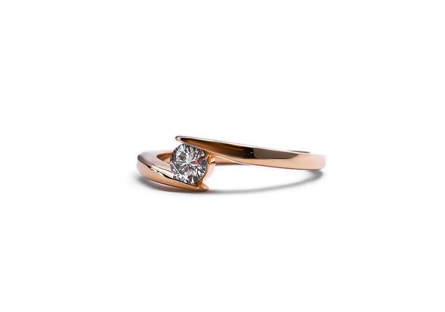 bague fiançailles moissanite or rose hello you 25 coté