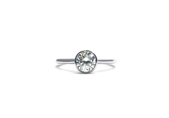 diamond engagement ring white gold laboratory diamonds I have butterflies
