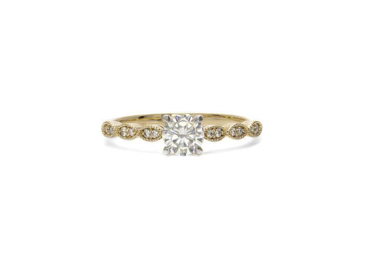 yellow gold moissanite engagement ring I see you.