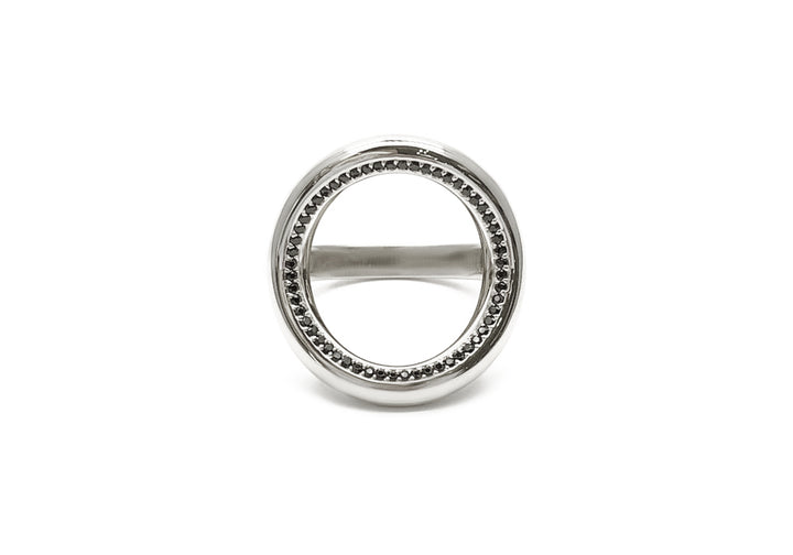 ring 56 spinels white gold face good karma