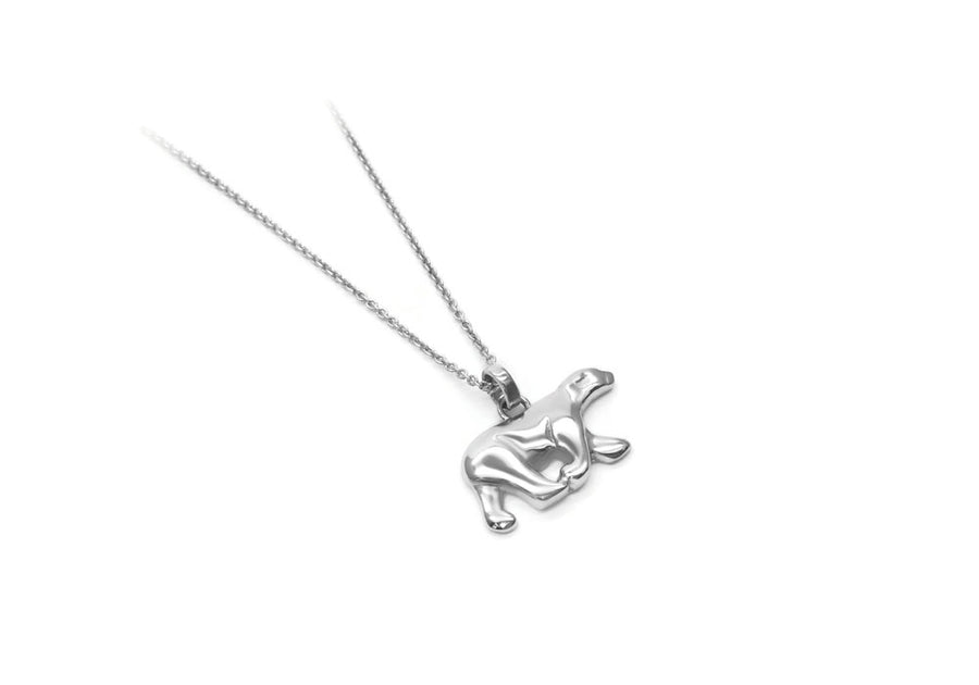 collier ours blanc en argent sterling