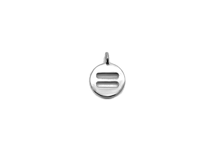 equal sign charm sterling silver