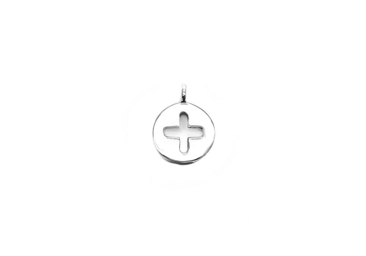 sterling silver plus sign charm