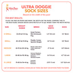 Ultra Paws Ultra Doggie Socks Sizing Guide
