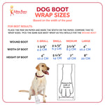 Ultra Paws Disposable Dog Boot Wraps Sizing Chart