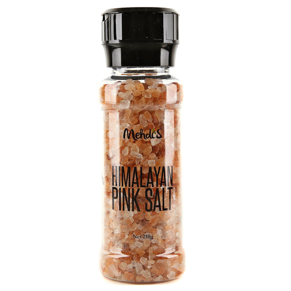 HIMALAYAN PINK ROCK SALT GRINDER 210 G - Himalaya pink salt everyday grinders