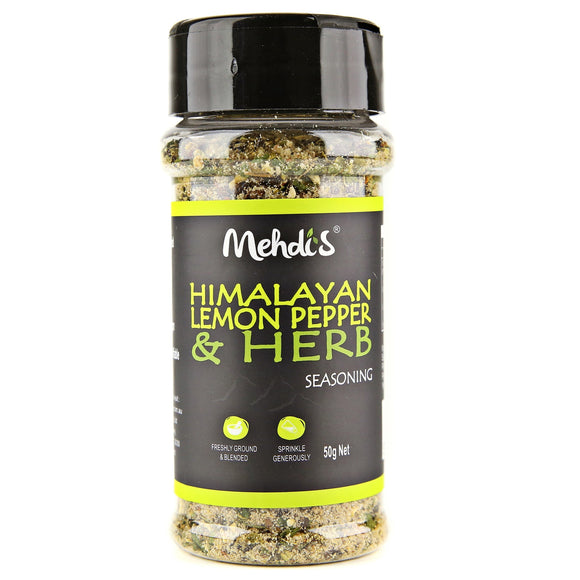 VEGAN LEMON PEPPER & HERB SEASONING 50 g - seasonings