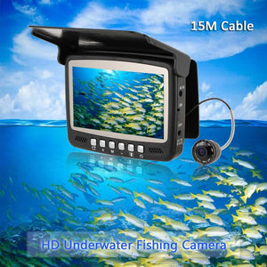 "4.3"" Digital Color TFT Monitor 8 Infrared LED 800TVL HD Underwater Fishing Camera 15M Cable Fish Finder Night Vision - Phishing The World"