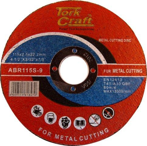 Cutting disc stainless steel 115mm