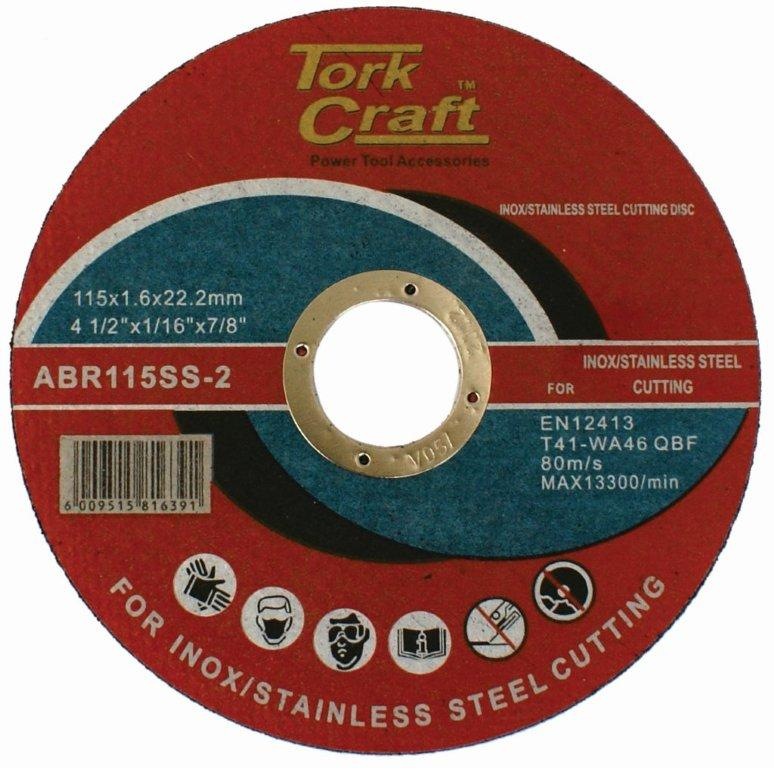 Cutting disc for stainless steel 115mm