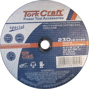 Multi purpose cutting disc 230mm