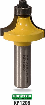Corner round or round-over router bit sample