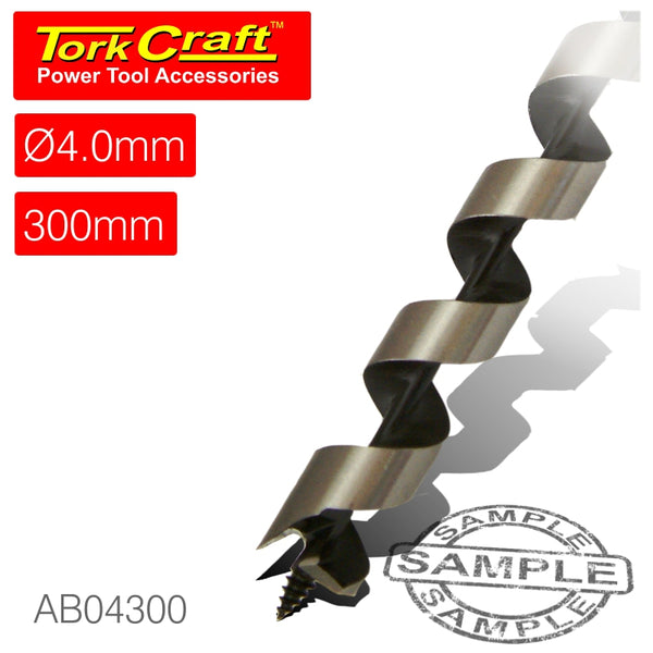 AUGER BIT 4 X 300MM POUCHED - Power Tool Traders