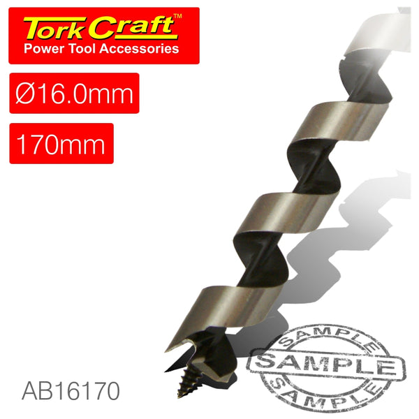 AUGER BIT 16 X 170MM POUCHED - Power Tool Traders