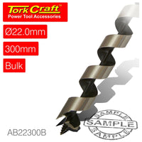 AUGER BIT 22 X 300MM BULK 13MM SHANK BLACK FINISH - Power Tool Traders