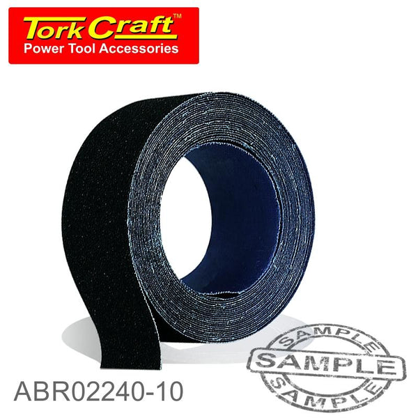 EMERY CLOTH 240GRIT 50MM X 10M ROLL - Power Tool Traders