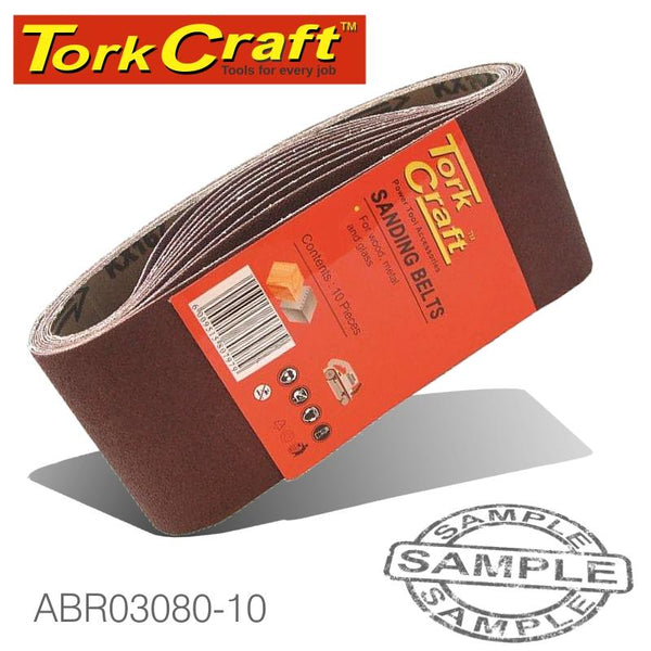 SANDING BELT 60 X 400MM 80GRIT 10/PACK (FOR TRITON PALM SANDER) - Power Tool Traders