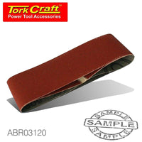 SANDING BELT 60 X 400MM 120GRIT 2/PACK (FOR TRITON PALM SANDER) - Power Tool Traders