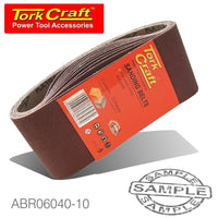 SANDING BELT 75 X 457MM 40 GRIT 10/PACK - Power Tool Traders