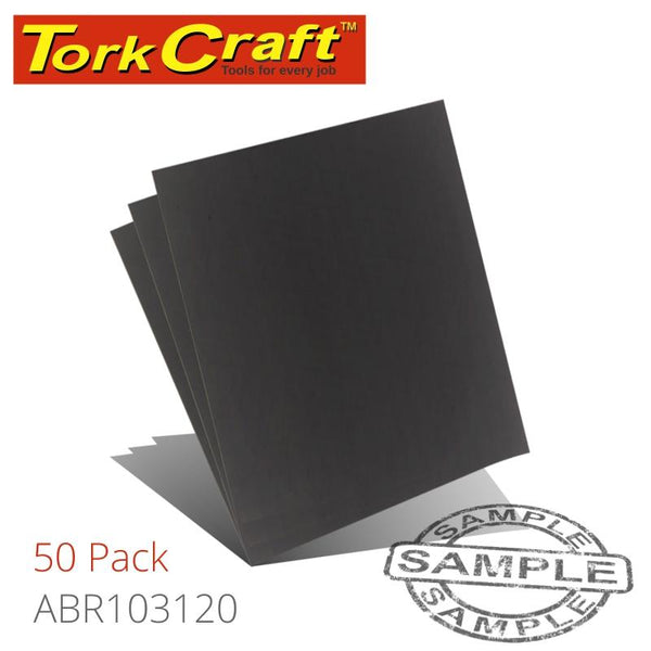 WATER PAPER 230 X 280MM 1200 GRITWET & DRY 50 PER PACK (DIY) - Power Tool Traders