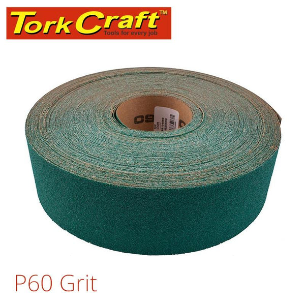 PRODUCTION PAPER GREEN P60 70MM X 50M - Power Tool Traders