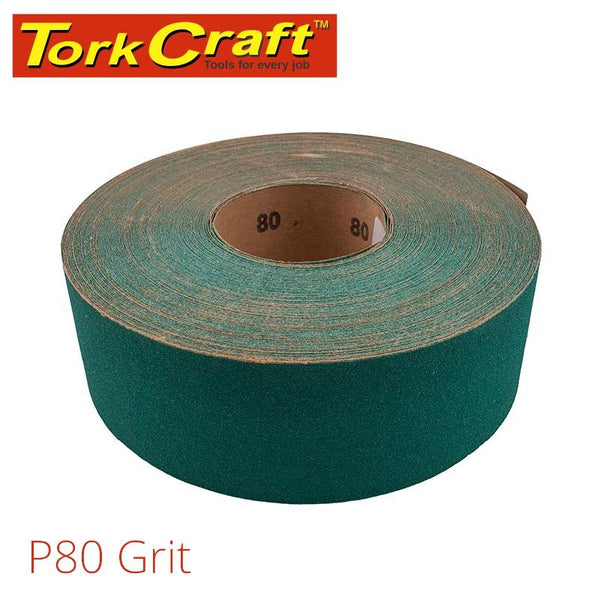 PRODUCTION PAPER GREEN P80 70MM X 50M - Power Tool Traders