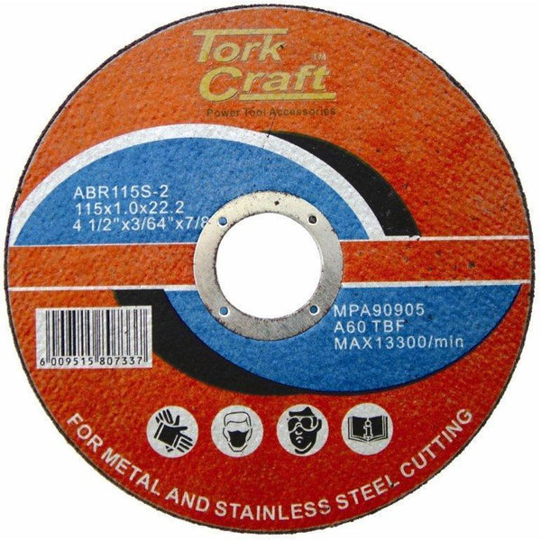 CUTTING DISC STEEL  & SS 115 x 1.0 x 22.2 MM - Power Tool Traders