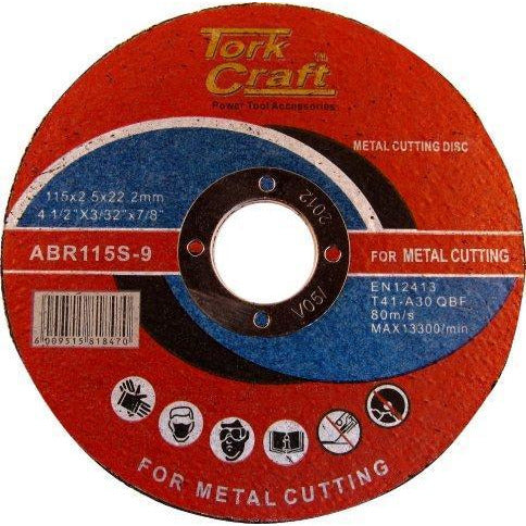 CUTTING DISC METAL & SS 115 x 2.5 x 22.22MM - Power Tool Traders