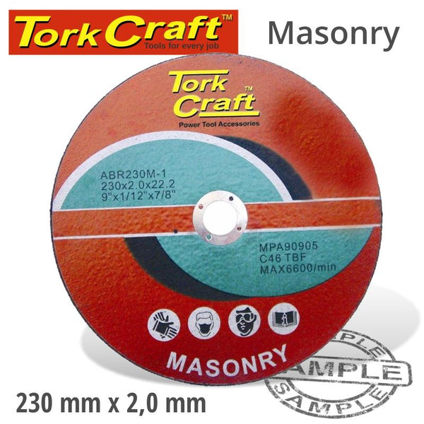 CUTTING DISC MASONRY 230 X 2.0 X 22.22MM - Power Tool Traders
