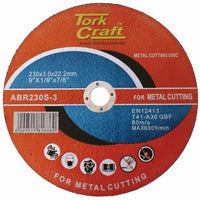 CUTTING DISC STEEL AND SS 230 X 3.0 X22.22MM - Power Tool Traders