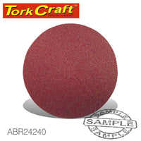 SANDING DISC VELCRO 115MM 240 GRIT 10/PACK - Power Tool Traders