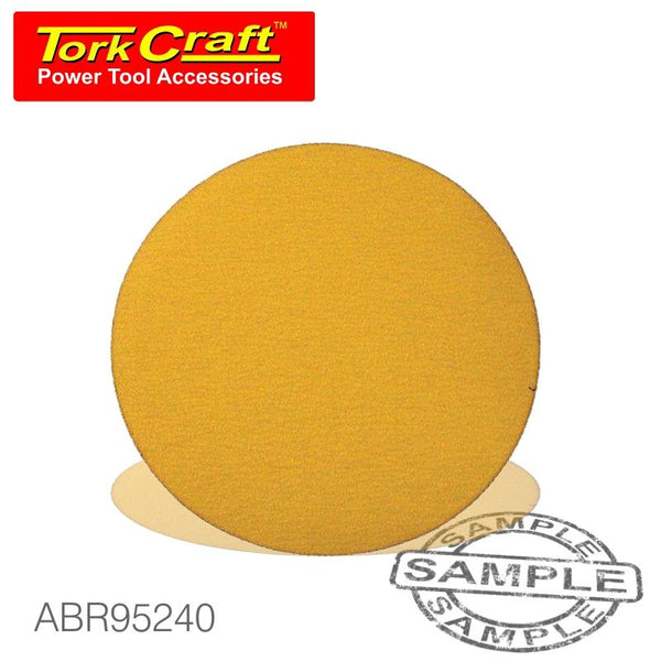 GOLD VELCRO DISC (50 PIECES) 240 GRIT 150MM WITHOUT HOLE - Power Tool Traders