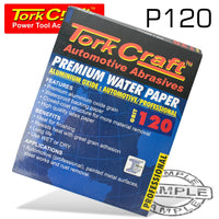 PREMIUM WATERPROOF PAPER  120 GRIT 230  X 28 (50 PIECE) AUTOMOTIVE - Power Tool Traders