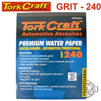 PREMIUM WATERPROOF PAPER  240 GRIT 230  X 28 (50 PIECE) AUTOMOTIVE - Power Tool Traders