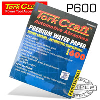 PREMIUM WATERPROOF PAPER  600 GRIT 230  X 28 (50 PIECE) AUTOMOTIVE - Power Tool Traders