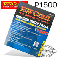 PREMIUM WATERPROOF PAPER  1500 GRIT 230  X 280 (50 PIECE) AUTOMOTIVE - Power Tool Traders
