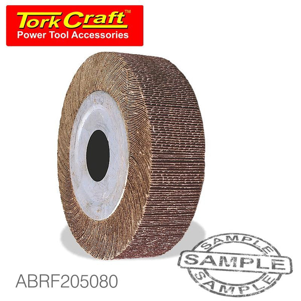FLAP WHEEL 205 X 50 X 25MM BORE 80 GRIT PER EACH - Power Tool Traders