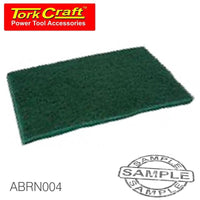 PAD NON WOVEN INDUSTRIAL STRENGTH 150 X 230MM FINE GREEN - GREEN 20PCE - Power Tool Traders