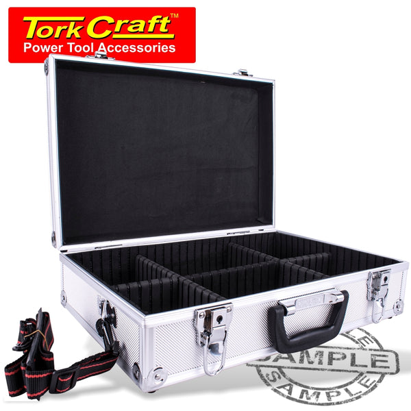 ALUMINIUM CASE 42.5 X 28.5 X 12 WITH 5 X DIVIDERS - Power Tool Traders