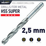 HSS SUPER DRILL BIT 2.5MM 1/PACK (182025 - Power Tool Traders