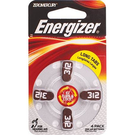 ENERGIZER HEARING AID BATTERY AZ312 4 PACK (MOQ 6) - Power Tool Traders