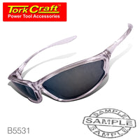 SAFETY EYEWEAR GLASSES YELLOW MIRROR - Power Tool Traders