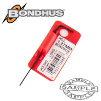 HEX END L-WRENCH 1.27MM PROGUARD SINGLE BONDHUS - Power Tool Traders