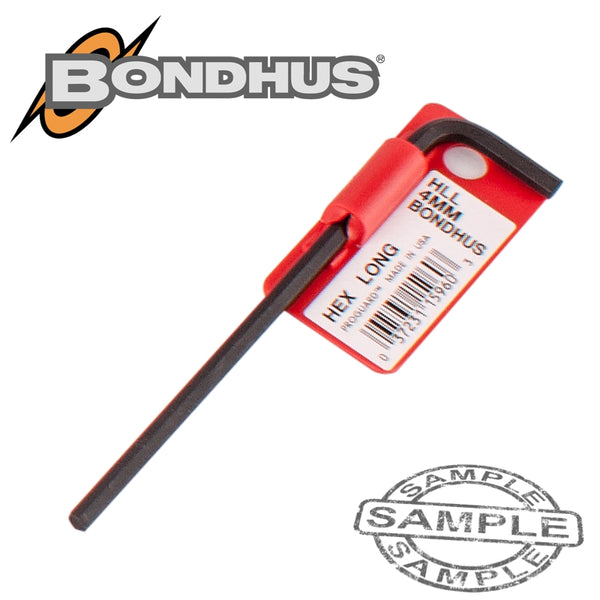 HEX END L-WRENCH 4.0MM PROGUARD SINGLE BONDHUS - Power Tool Traders